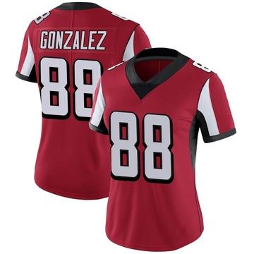 Women's Nike Atlanta Falcons Tony Gonzalez Red Team Color Vapor Untouchable Jersey - Limited