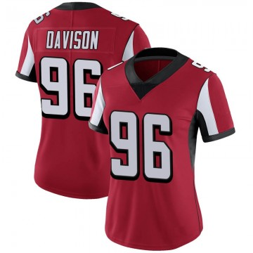 Women's Nike Atlanta Falcons Tyeler Davison Red 100th Vapor Jersey - Limited