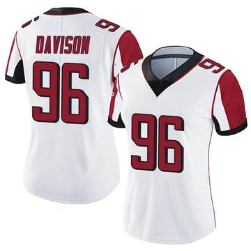 Women's Nike Atlanta Falcons Tyeler Davison White Vapor Untouchable Jersey - Limited