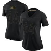 Women's Nike Atlanta Falcons Tyler Hall Black 2020 Salute To Service Jersey - Limited