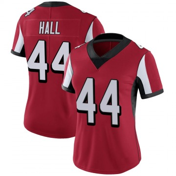 Women's Nike Atlanta Falcons Tyler Hall Red 100th Vapor Jersey - Limited