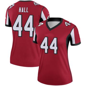 Women's Nike Atlanta Falcons Tyler Hall Red Jersey - Legend