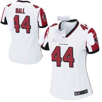 Women's Nike Atlanta Falcons Tyler Hall White Jersey - Game