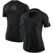 Women's Nike Atlanta Falcons Younghoe Koo Black 2020 Salute To Service Jersey - Limited