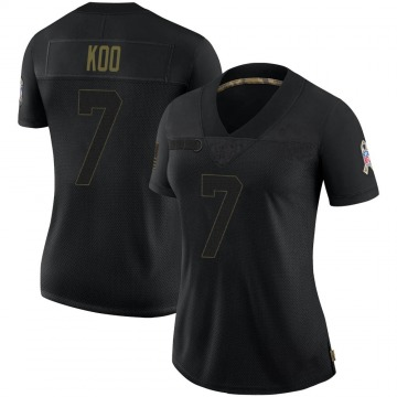 Women's Nike Atlanta Falcons Younghoe Koo Black 2020 Salute To Service Jersey - Limited