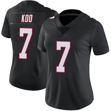 Women's Nike Atlanta Falcons Younghoe Koo Black Vapor Untouchable Jersey - Limited