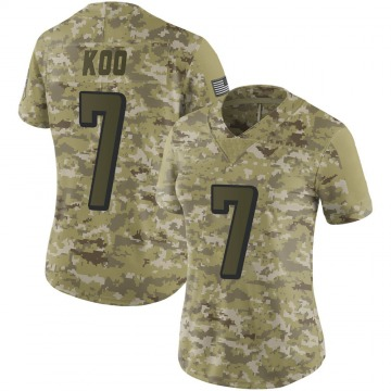 Women's Nike Atlanta Falcons Younghoe Koo Camo 2018 Salute to Service Jersey - Limited