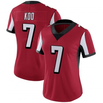 Women's Nike Atlanta Falcons Younghoe Koo Red 100th Vapor Jersey - Limited