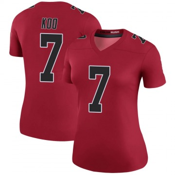 Women's Nike Atlanta Falcons Younghoe Koo Red Color Rush Jersey - Legend