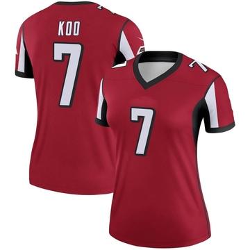 Women's Nike Atlanta Falcons Younghoe Koo Red Jersey - Legend