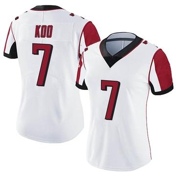 Women's Nike Atlanta Falcons Younghoe Koo White Vapor Untouchable Jersey - Limited