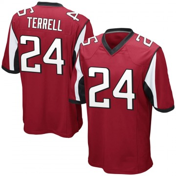 Youth Nike Atlanta Falcons A.J. Terrell Red Team Color Jersey - Game