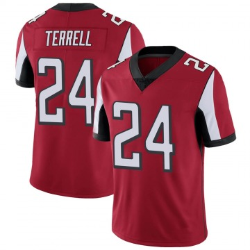 Youth Nike Atlanta Falcons A.J. Terrell Red Team Color Vapor Untouchable Jersey - Limited