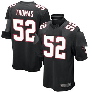 Youth Nike Atlanta Falcons Ahmad Thomas Black Alternate Jersey - Game