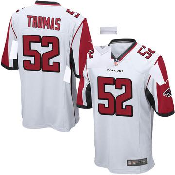 Youth Nike Atlanta Falcons Ahmad Thomas White Jersey - Game