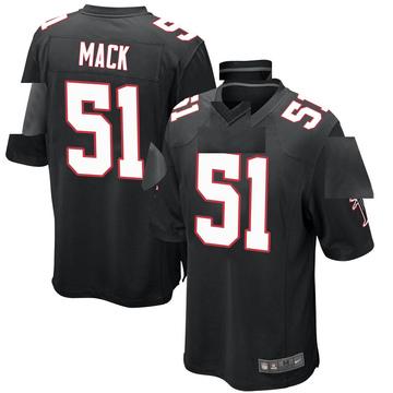 Youth Nike Atlanta Falcons Alex Mack Black Alternate Jersey - Game