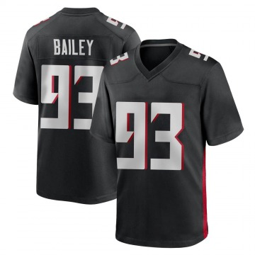 Youth Nike Atlanta Falcons Allen Bailey Black Alternate Jersey - Game