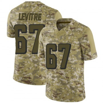 Youth Nike Atlanta Falcons Andy Levitre Camo 2018 Salute to Service Jersey - Limited