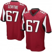 Youth Nike Atlanta Falcons Andy Levitre Red Team Color Jersey - Game
