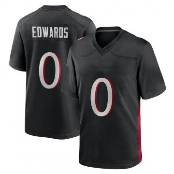 Youth Nike Atlanta Falcons Austin Edwards Black Alternate Jersey - Game