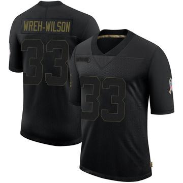 Youth Nike Atlanta Falcons Blidi Wreh-Wilson Black 2020 Salute To Service Jersey - Limited