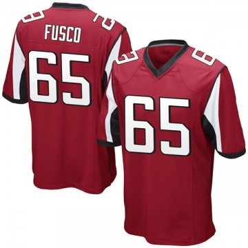 Youth Nike Atlanta Falcons Brandon Fusco Red Team Color Jersey - Game