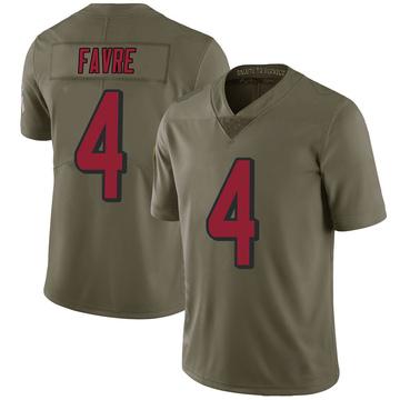 Youth Nike Atlanta Falcons Brett Favre Green 2017 Salute to Service Jersey - Limited