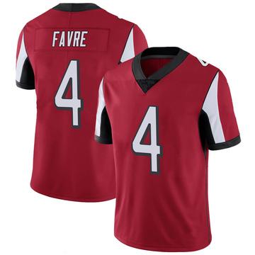Youth Nike Atlanta Falcons Brett Favre Red 100th Vapor Jersey - Limited