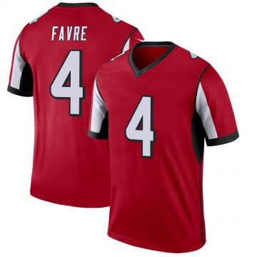 Youth Nike Atlanta Falcons Brett Favre Red Jersey - Legend