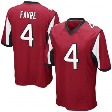 Youth Nike Atlanta Falcons Brett Favre Red Team Color Jersey - Game