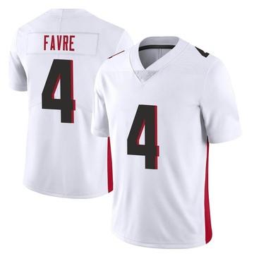 Youth Nike Atlanta Falcons Brett Favre White Vapor Untouchable Jersey - Limited