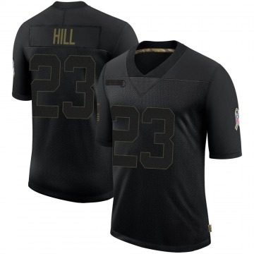 Youth Nike Atlanta Falcons Brian Hill Black 2020 Salute To Service Jersey - Limited