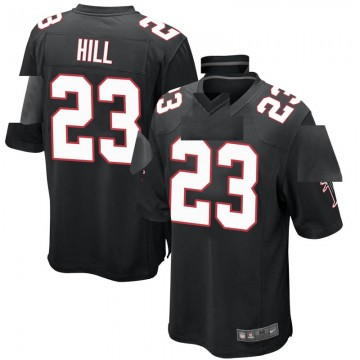 Youth Nike Atlanta Falcons Brian Hill Black Alternate Jersey - Game