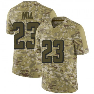 Youth Nike Atlanta Falcons Brian Hill Camo 2018 Salute to Service Jersey - Limited