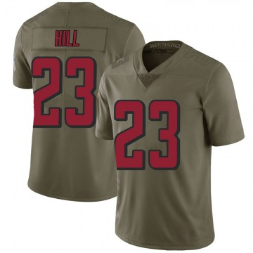 Youth Nike Atlanta Falcons Brian Hill Green 2017 Salute to Service Jersey - Limited