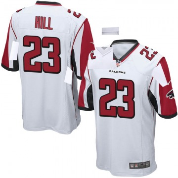 Youth Nike Atlanta Falcons Brian Hill White Jersey - Game