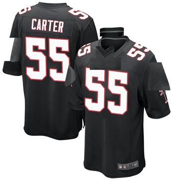 Youth Nike Atlanta Falcons Bruce Carter Black Alternate Jersey - Game