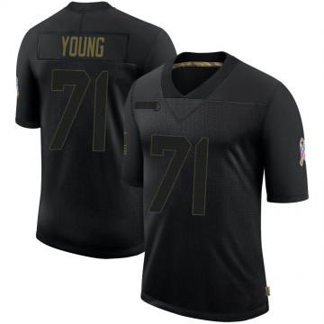Youth Nike Atlanta Falcons Bryson Young Black 2020 Salute To Service Jersey - Limited
