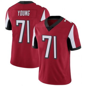Youth Nike Atlanta Falcons Bryson Young Red 100th Vapor Jersey - Limited