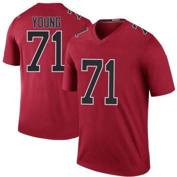 Youth Nike Atlanta Falcons Bryson Young Red Color Rush Jersey - Legend