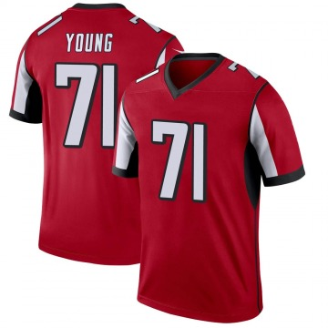 Youth Nike Atlanta Falcons Bryson Young Red Jersey - Legend