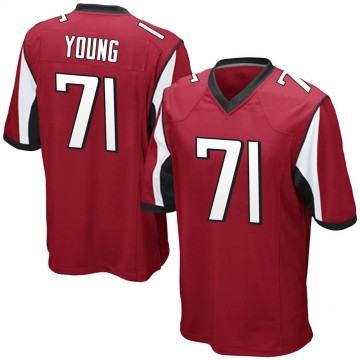 Youth Nike Atlanta Falcons Bryson Young Red Team Color Jersey - Game