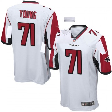 Youth Nike Atlanta Falcons Bryson Young White Jersey - Game