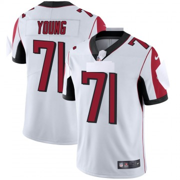 Youth Nike Atlanta Falcons Bryson Young White Vapor Untouchable Jersey - Limited