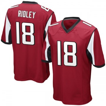 Youth Nike Atlanta Falcons Calvin Ridley Red Team Color Jersey - Game