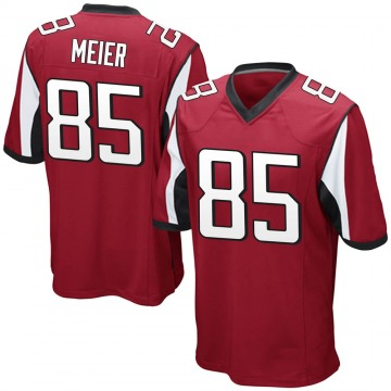 Youth Nike Atlanta Falcons Carson Meier Red Team Color Jersey - Game