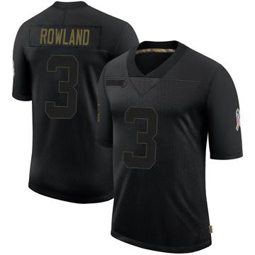 Youth Nike Atlanta Falcons Chris Rowland Black 2020 Salute To Service Jersey - Limited