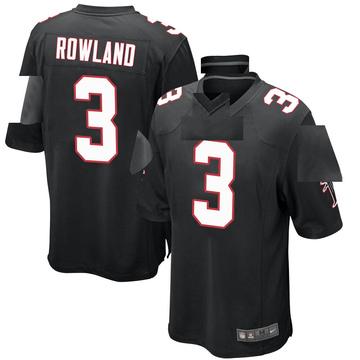 Youth Nike Atlanta Falcons Chris Rowland Black Alternate Jersey - Game