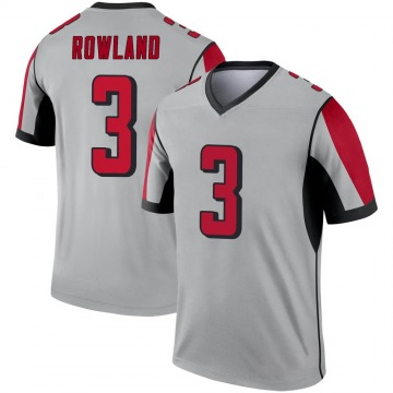 Youth Nike Atlanta Falcons Chris Rowland Inverted Silver Jersey - Legend