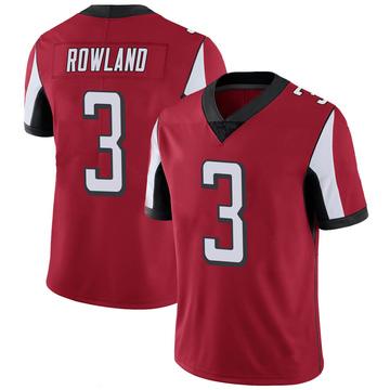 Youth Nike Atlanta Falcons Chris Rowland Red 100th Vapor Jersey - Limited
